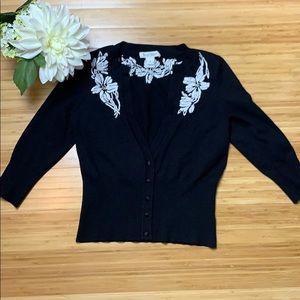 White House Black Market Black S Cardigan Sweater